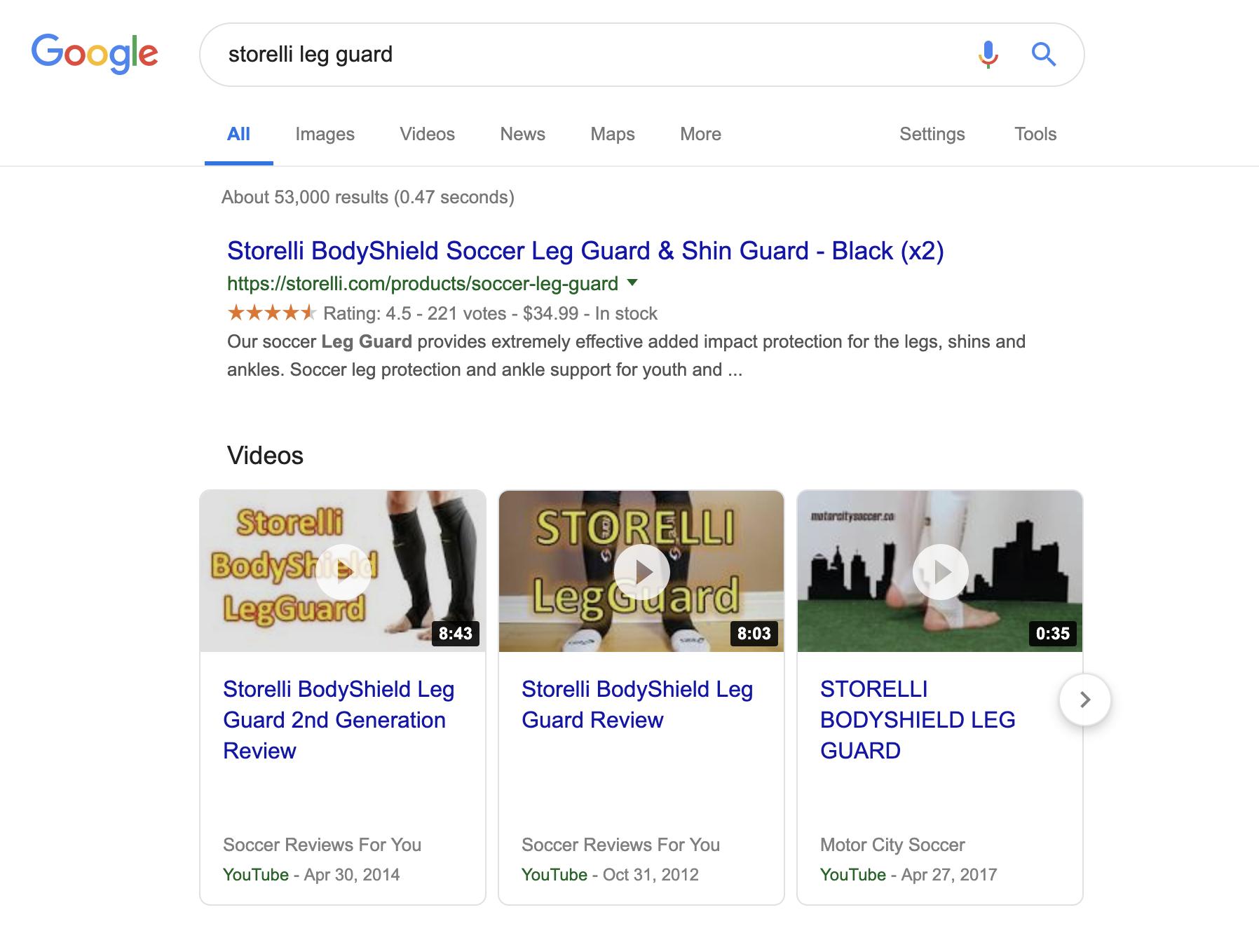 Shopify SEO Google search results