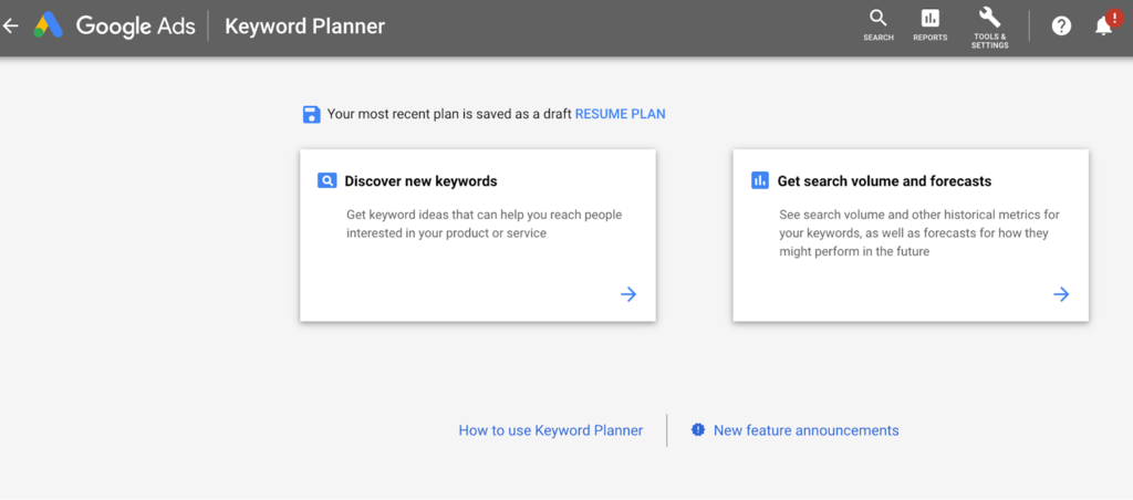 Shopify SEO: Using Keyword Planner for keyword research