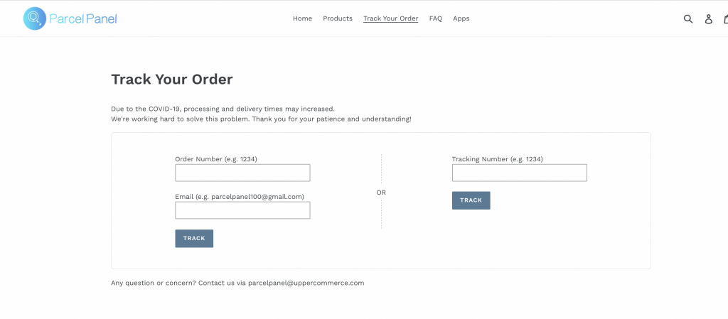 Parcel Panel Order Tracking Shopify App