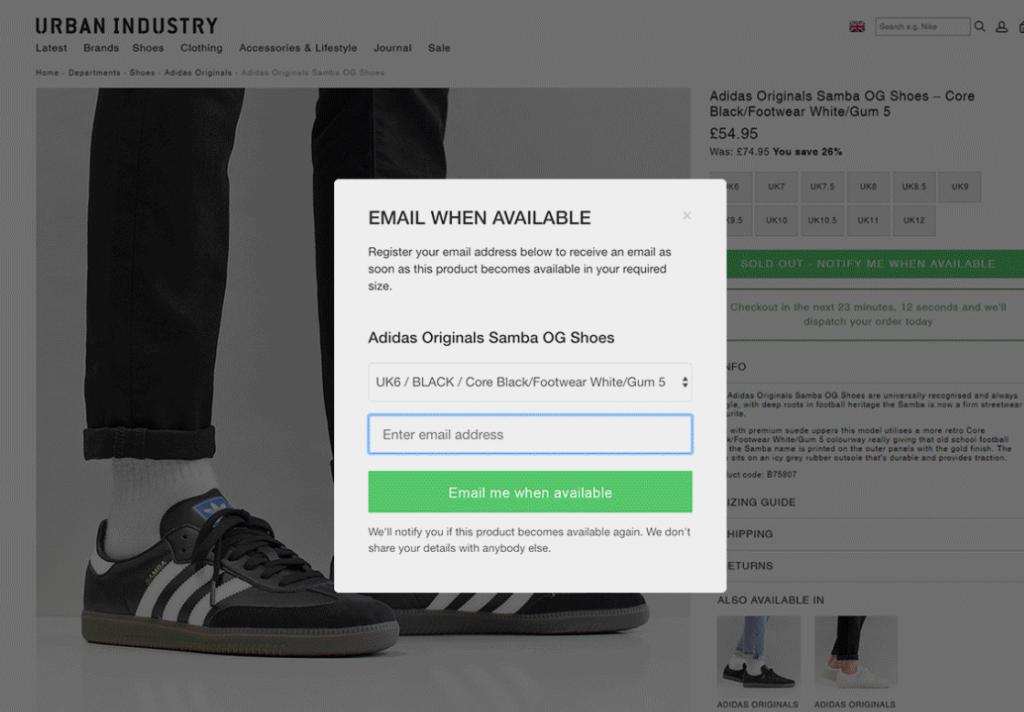 Back in Stock Free Shopify App